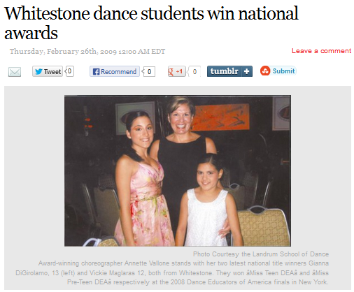 Landrum School of Dance in QueensCourier.com - National Dance Winners