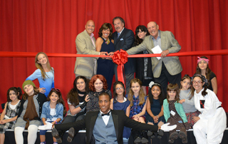 Landrum Showcase Theater Ribbon Cutting Ceremony with cast of Annie Whitestone NY